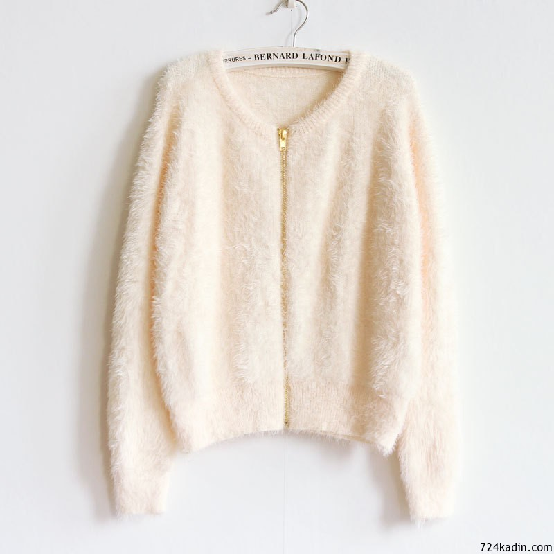 New-winter-woman-mohair-solid-font-b-zipper-b-font-font-b-cardigan-b-font-sweater