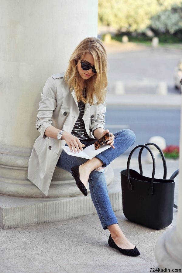street style trench coat