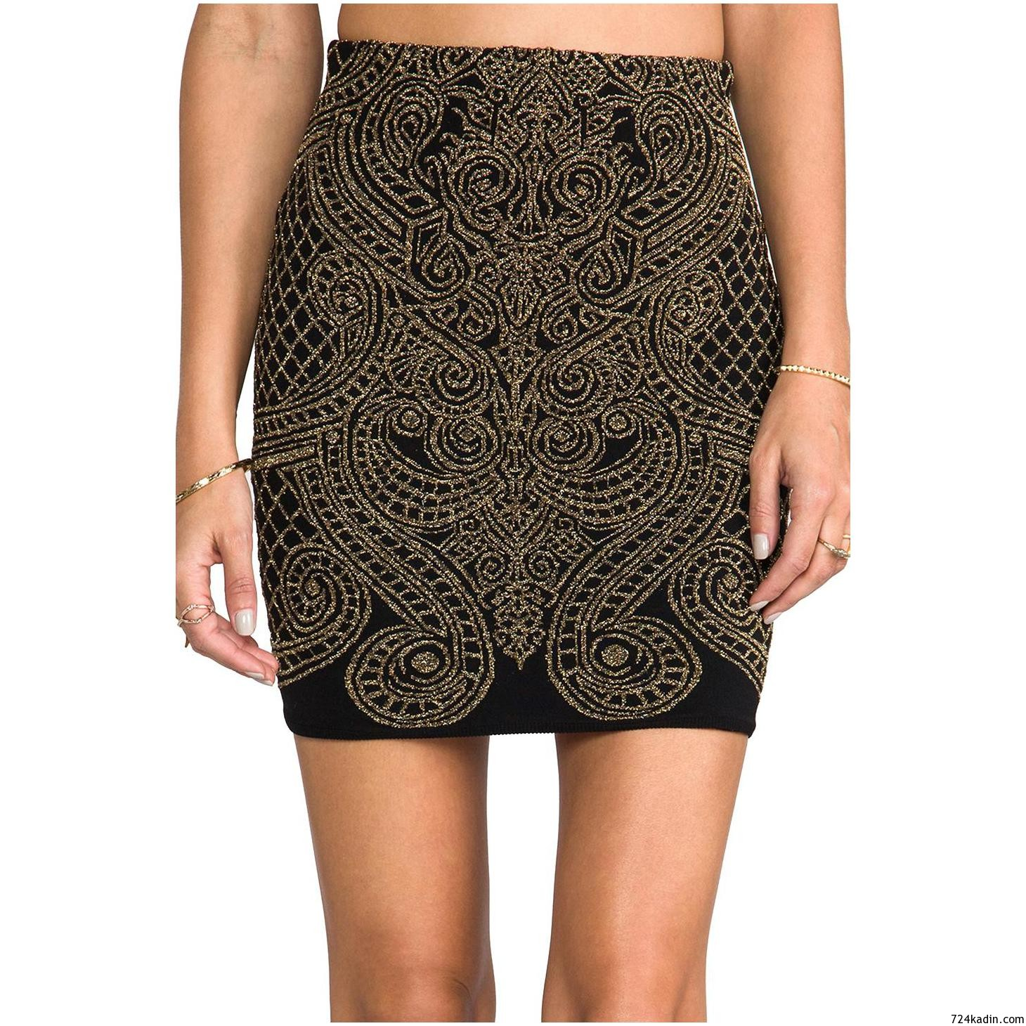 1500-RVN-Metallic-Baroque-Jacquard-High-Waisted-Skirt-for-Women-4