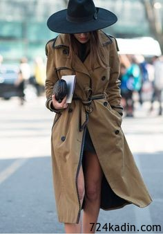 cool girl trench coat