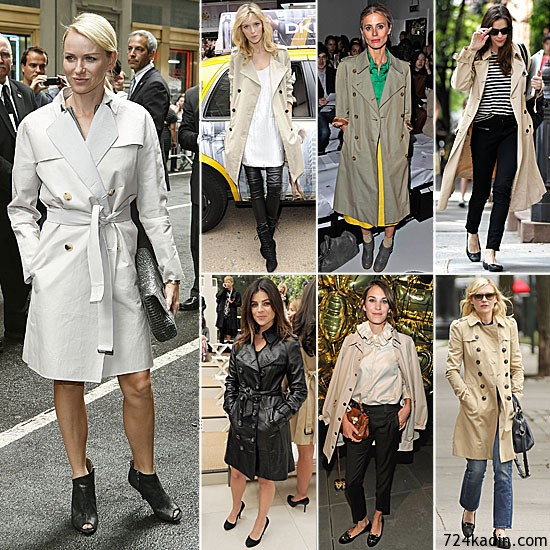 Celebrities Wearing Trench Coats Fall