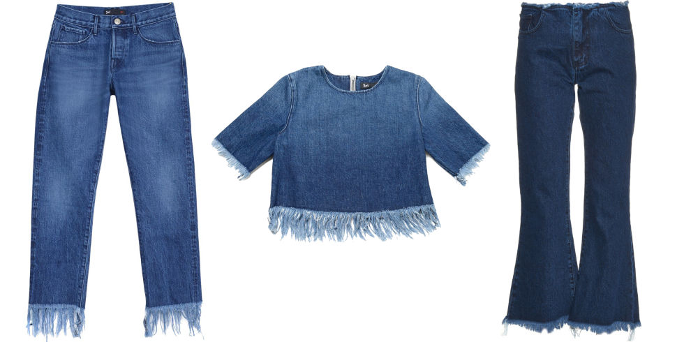 denim fringe